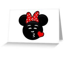 Minnie Emoji - Sweet Kiss Red Greeting Card