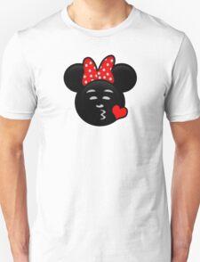 Minnie Emoji - Sweet Kiss Red T-Shirt