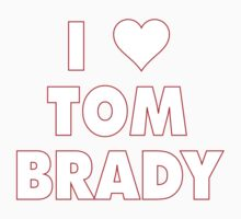 I LOVE TOM BRADY New England Patriots Football heart Kids Tee
