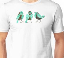 Turquoise Finches Unisex T-Shirt