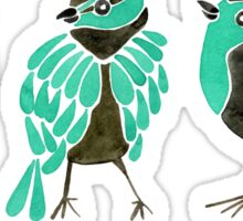 Turquoise Finches Sticker