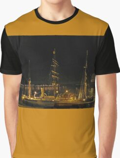 RRS Discovery at  night Graphic T-Shirt