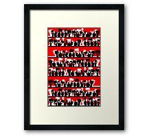 protest march Framed Print