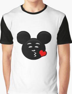 Micky Emoji - Sweet Kiss Red Graphic T-Shirt