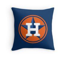 Houston Astros Color Swap Logo Throw Pillow