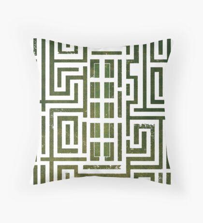 Overlook Hotel Shrub Labyrinth - The Shining Throw Pillow