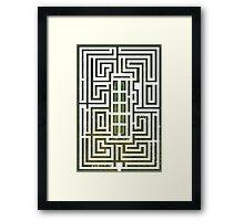 Overlook Hotel Shrub Labyrinth - The Shining Framed Print