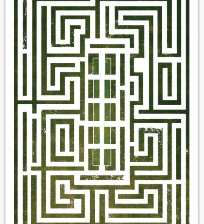Overlook Hotel Shrub Labyrinth - The Shining Sticker