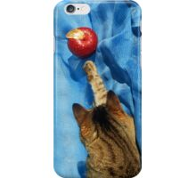 Cat and the Apple iPhone Case/Skin