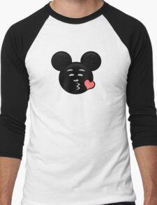 Micky Emoji - Sweet Kiss Pink Men's Baseball ¾ T-Shirt