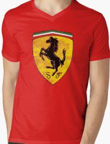 Ferrari vintage cars Mens V-Neck T-Shirt