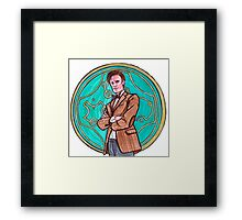 .11th Doctor. Framed Print
