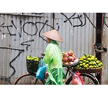 Fruit Vendor Hanoi Vietnam Photographic Print