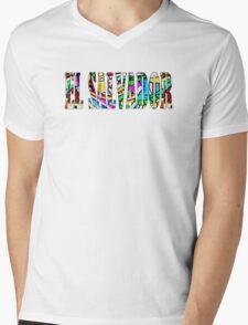 El Salvador colorido Mens V-Neck T-Shirt