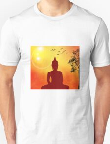 Colorful Golden Buddha in Nature T-Shirt