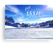 """Just Dream"" – On the Mountains Canvas Print"