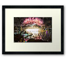 Sydney NYE Fireworks 2015 # 10 Framed Print