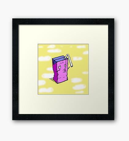 Thirsty Juice Box Framed Print