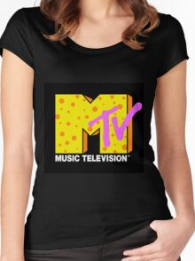 90's MTV Women's Fitted Scoop T-Shirt