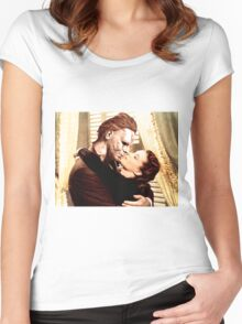 Michael Myers as Clark Gable Women's Fitted Scoop T-Shirt