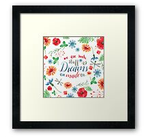 SHAKESPEARE: WE ARE DREAMS Framed Print