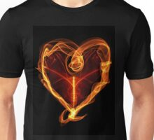 Burning Love Heart Unisex T-Shirt