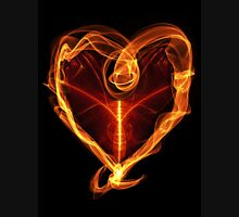Burning Love Heart Unisex T-Shirt