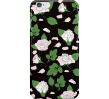 Seamless ethnic pattern with pink roses and green leaf iPhone Case/Skin