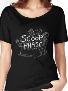 Scoop Phase white Women's Relaxed Fit T-Shirt