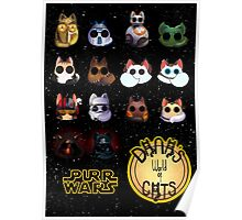 Dana's world of Cats - Purr Wars Poster