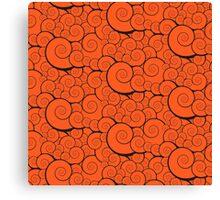 Orange swirls pattern Canvas Print