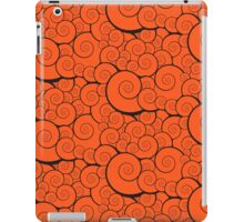 Orange swirls pattern iPad Case/Skin