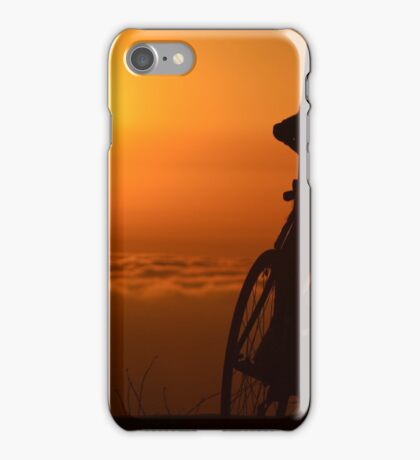 Bicyclist at Sunset iPhone Case/Skin