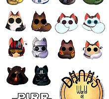 Dana's world of Cats - Purr Wars neutral background  by Kaizoku-hime
