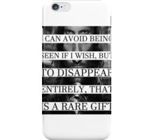 Your face is a rare gift iPhone Case/Skin