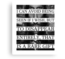 Your face is a rare gift Canvas Print