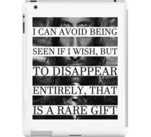 Your face is a rare gift iPad Case/Skin