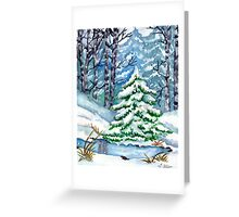 Winter Spruce Tree Greeting Card