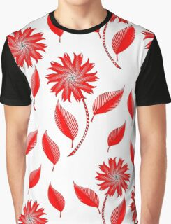 Simple flowers and leaf pattern Graphic T-Shirt