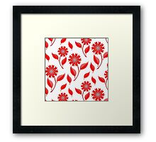 Simple flowers and leaf pattern Framed Print