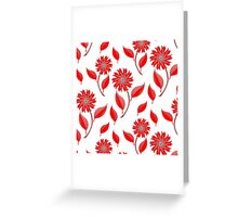 Simple flowers and leaf pattern Greeting Card