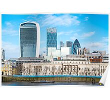 City of London in Winter Poster