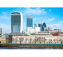 City of London in Winter Photographic Print