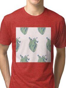 Heart pattern comic style Tri-blend T-Shirt