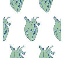 Heart pattern comic style Photographic Print