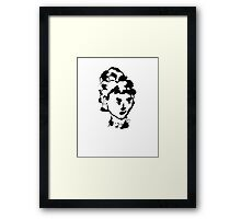 Woman in Ink Framed Print