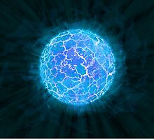 Beautiful Icy Blue Luminescent Sun by pdgraphics