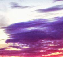 Sunset in Scotland Sticker