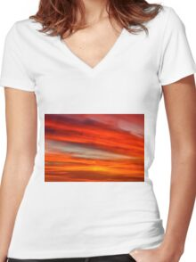 New Year Cloud Women's Fitted V-Neck T-Shirt