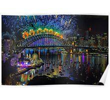 Sydney NYE Fireworks 2015 # 5 Poster